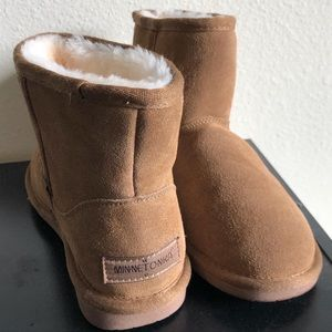 Ankle fur boots